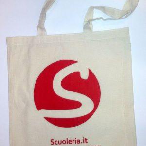 Borsa shopper riutilizzabile in cotone marchio Scuoleria.it