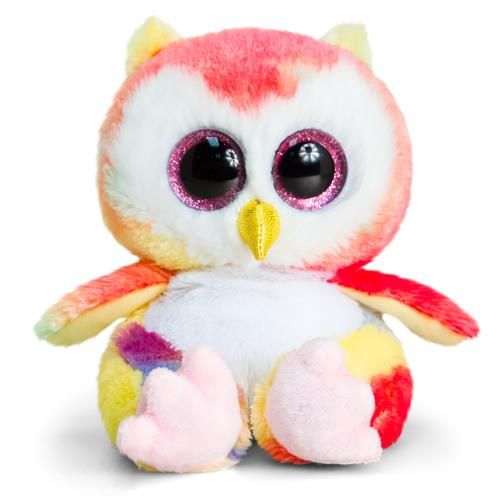 Kell Toys peluche Animotsu Rainbow Owl