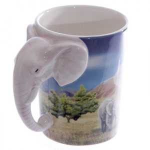 Tazza Decorata - Elefante